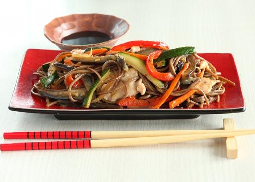 Рецепт Соба с овощами