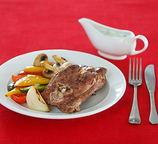 Рецепт Медальоны из баранины с соусом из йогурта и мяты