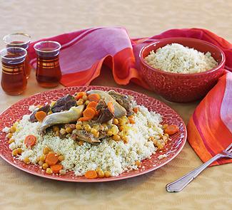 Рецепт Кускус с бараниной, перепелами и овощами