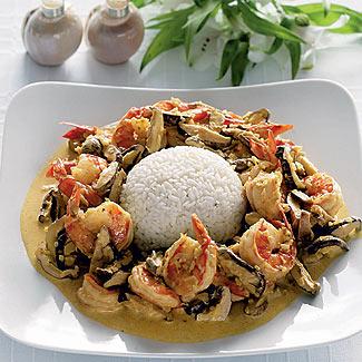 Рецепт Креветки в тайском стиле