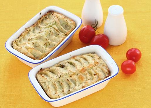 Рецепт Картофельная запеканка с салатом
