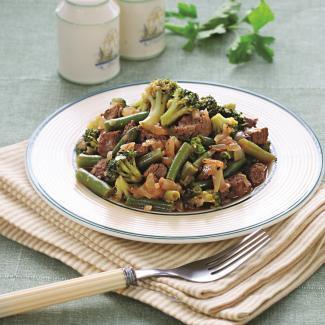 Рецепт Быстрое рагу с зелеными овощами