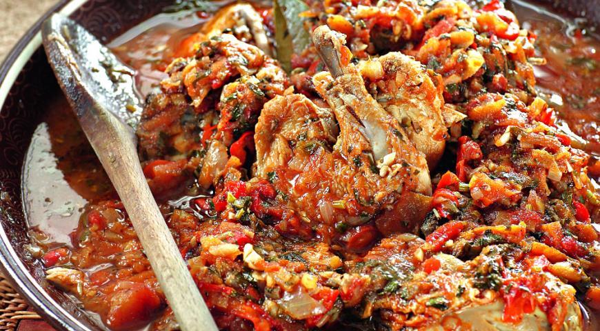 Приготовление чахохбили из курицы