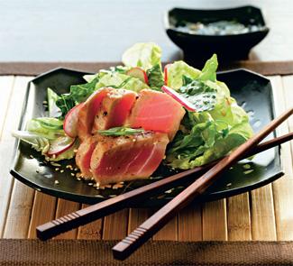Рецепт Теплый салат с тунцом
