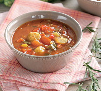 Рецепт Суп с перцем и брюссельской капустой