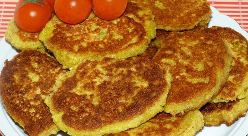 Рецепт Кабачково-гороховые оладьи (по мотивам пудлы)