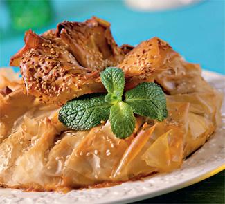 Рецепт Пирог с бараниной в тесте фило