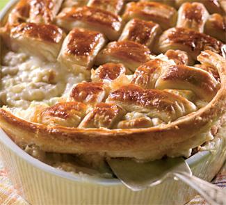 Рецепт Пирог с курицей и пореем