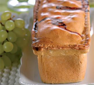 Пирог с ветчиной и виноградом, пошаговый рецепт с фото