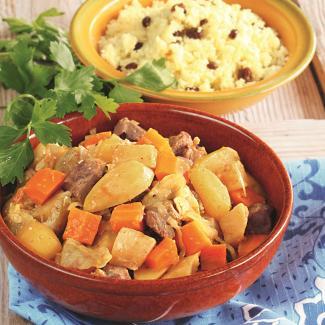Рецепт Баранина с овощами и кускусом