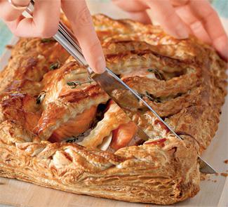 Рецепт Имбирный пирог с лососем