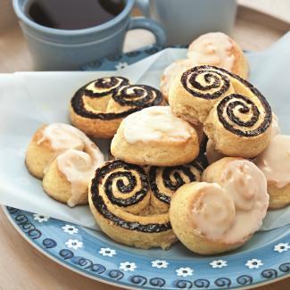 Рецепт Берлинское печенье с лимонной и шоколадной глазурью