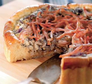 Рецепт Луковый пирог с окороком