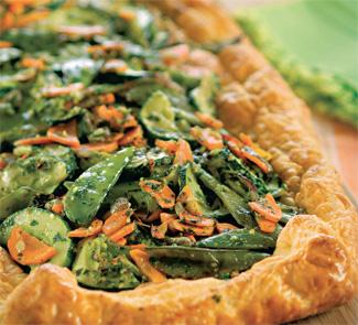 Рецепт Овощной пирог с песто из петрушки
