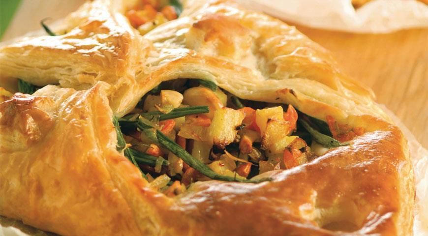 Рецепт Слоеные пирожки с овощами и кешью