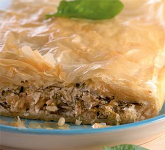 Рецепт Пирог с сыром фета и шпинатом
