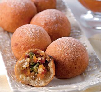 Рецепт Быстрые творожно-фруктовые пончики