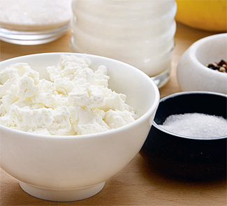 Рецепт Заправка из йогурта и свежего творога