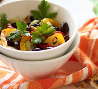 Рецепт Салат из красной фасоли с перцем-гриль