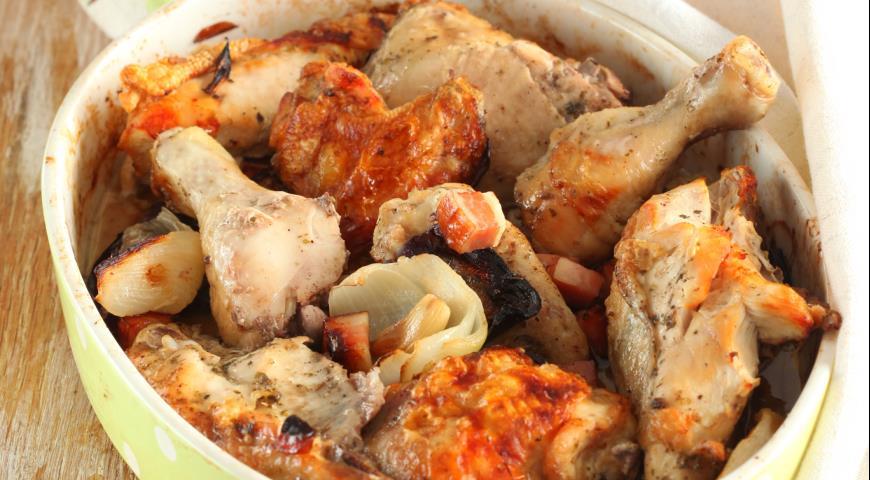 Рецепт Запеченная курица по-деревенски