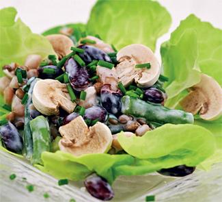Рецепт Сливочный салат из фасоли