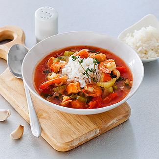 Рецепт Гамбо с морепродуктами и рисом в мультиварке