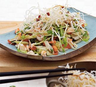 Рецепт Вьетнамский крабовый салат с жареной вермишелью