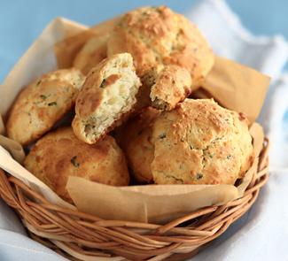 Рецепт Сырное печенье с зеленым луком