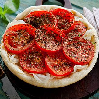 Рецепт Греческий пирог с луком и помидорами в мультиварке
