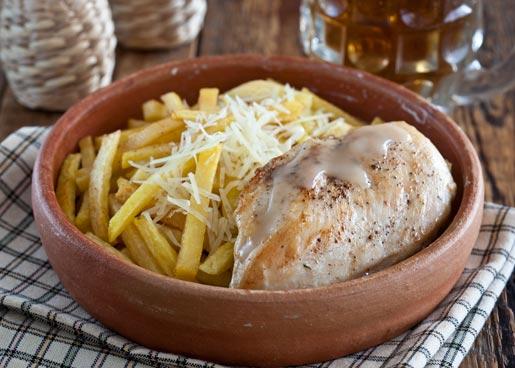 Курица с картофелем-фри, пошаговый рецепт с фото