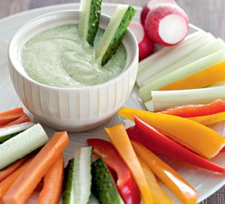 Рецепт Дип из йогурта к овощам