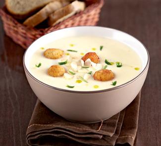 Рецепт Суп-пюре из цветной капусты с сырными шариками