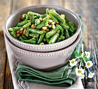 Рецепт Зеленая фасоль с орехами и чили