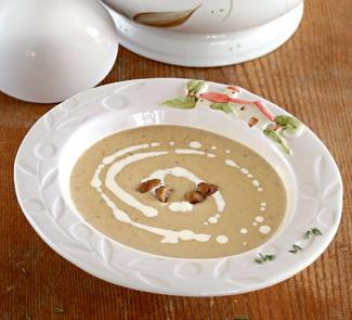 Рецепт Суп-пюре из лесных грибов