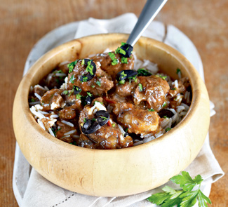 Рецепт Баранина, тушенная с маслинами