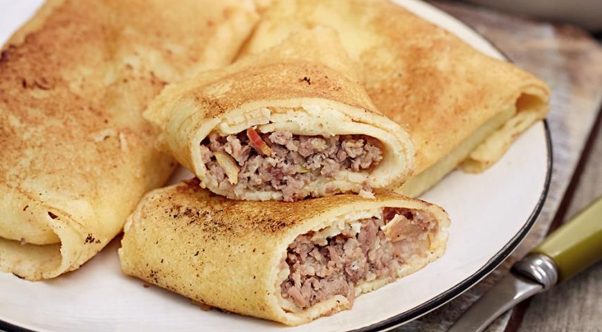 Рецепт Начинка для блинчиков с мясом