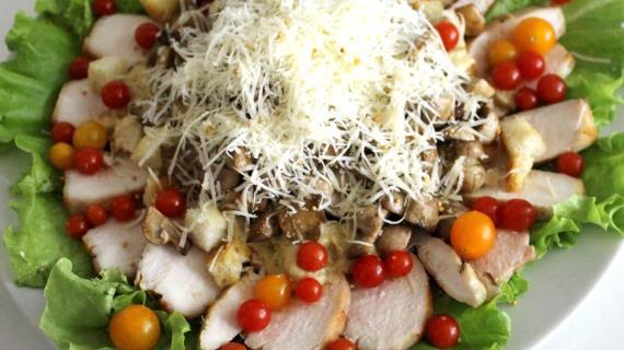 салат сердце рецепт с фото с курицей и грибами
