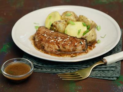 Рецепт Черная треска в имбирно-чесночном соусе