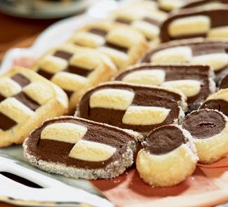 Рецепт Шахматное песочное печенье от Le Cordon Bleu