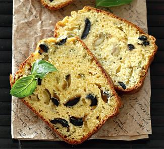 Рецепт Кекс с оливками, маслинами, базиликом и пармезаном