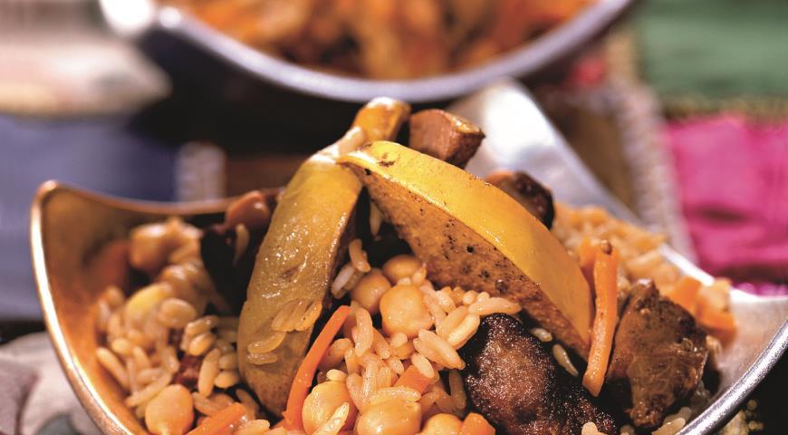 Рецепт Плов с говядиной и нутом