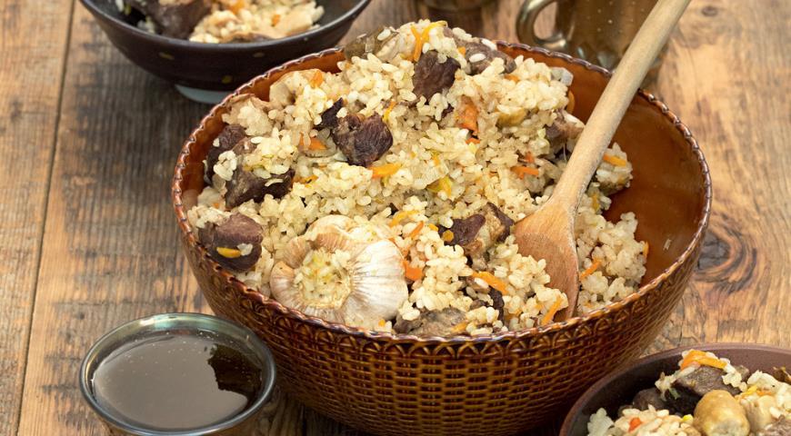 Рецепт Городской плов с бараниной и грибами