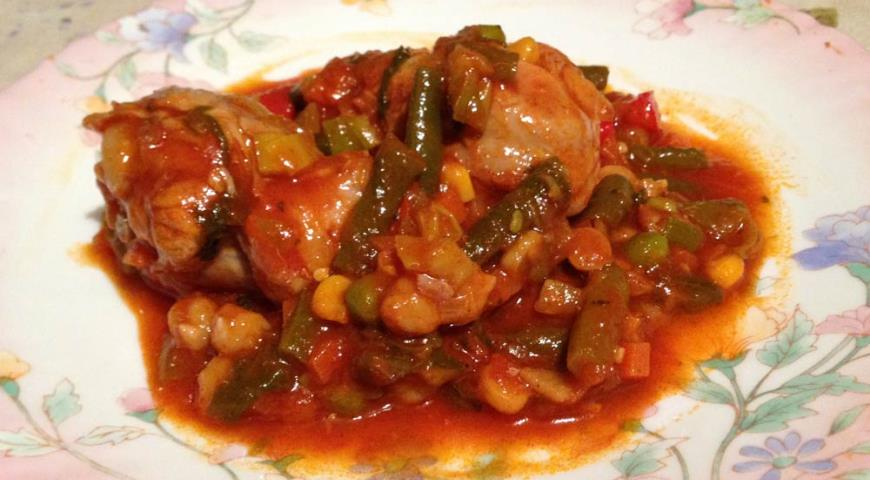 Рецепт Нежные куриные ножки с овощами и специями по мароккански