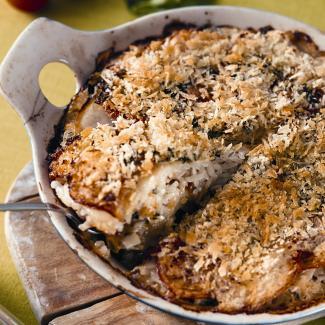 Рецепт Запеканка из мидий с овощами