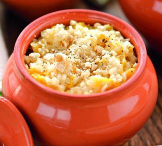 Рецепт Рисовая каша с манго и миндалем
