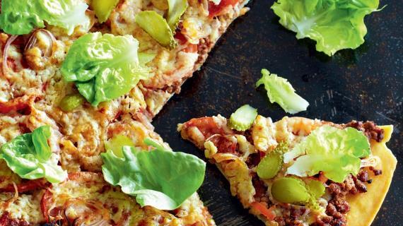 Пицца в стиле бигмак, пошаговый рецепт с фото