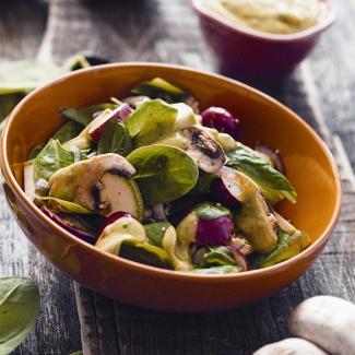 Рецепт Cалат из кабачков, грибов и редиса