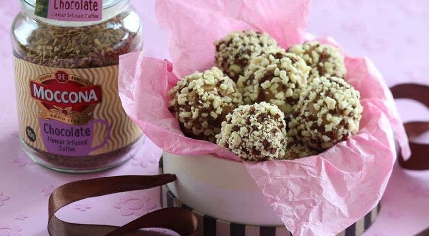Рецепт Кофейные трюфели из белого шоколада