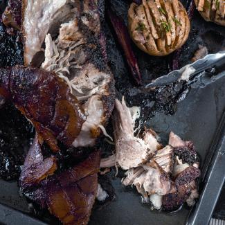 Рецепт Свиная лопатка, запеченная в течение 6 часов