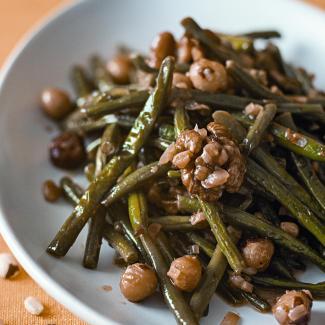 Рецепт Зеленая фасоль с орехами